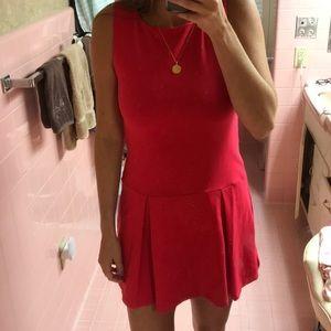 Susana Monaco Drop Waist Mini Dress in Red